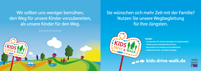flyer design rostock kids drive walk